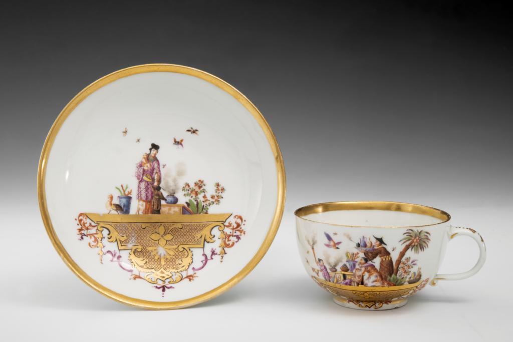 Exposition Meissen folies de porcelaine au musée Ariana- Boletsoucoupe,vers1723‐24
