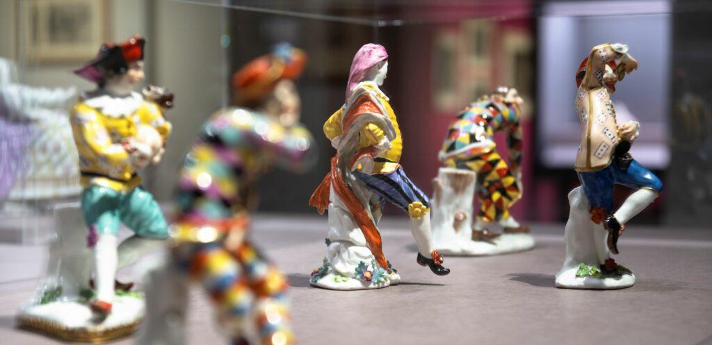 Exposition Meissen folies de porcelaine au musée Ariana- Commediadell'arte,1740‐45
