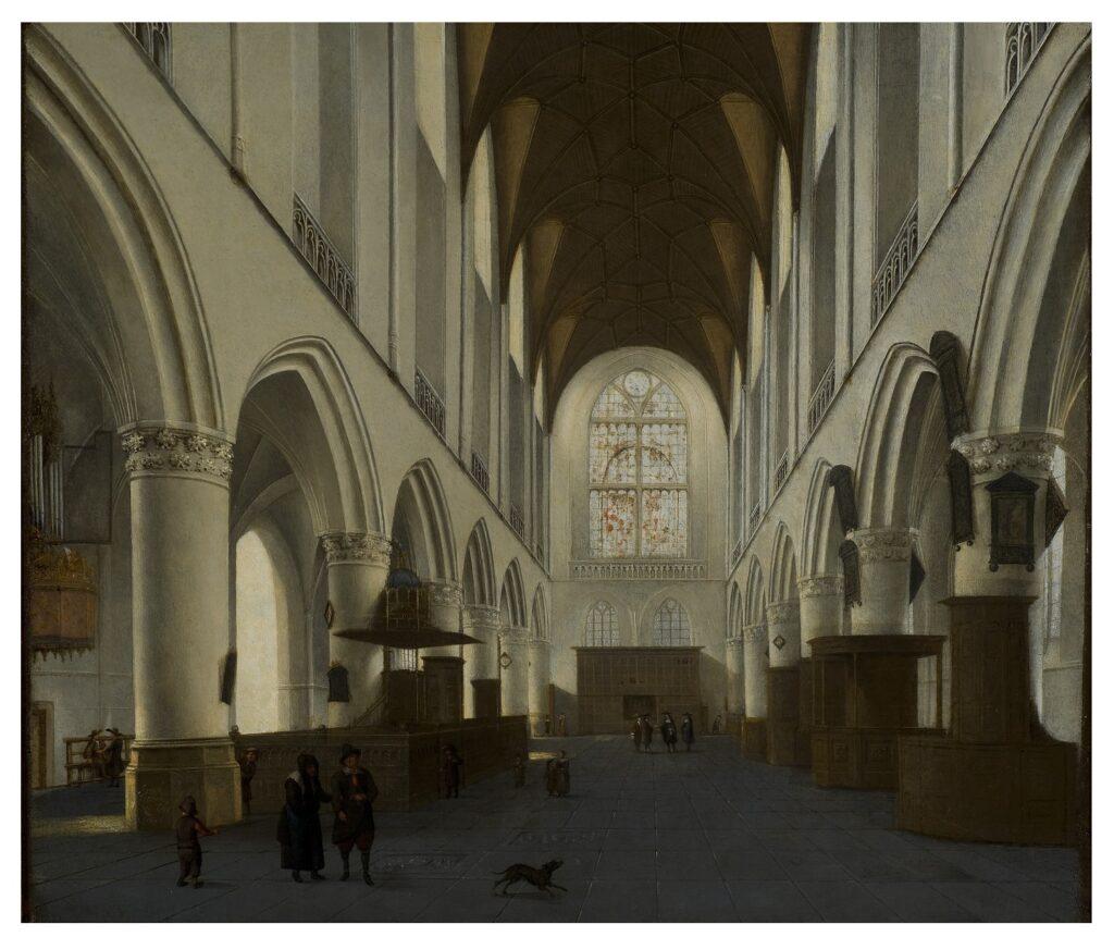 Exposition Sacrée Architecture ! La Passion d'un collectionneur - Isaak van Nickelen, Intérieur de l'église Saint-Bavon d'Harlem
