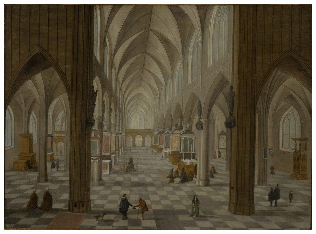 Exposition Sacrée Architecture ! La Passion d'un collectionneur - Pieter Neefs I, Intérieur de la cathédrale d'Anvers