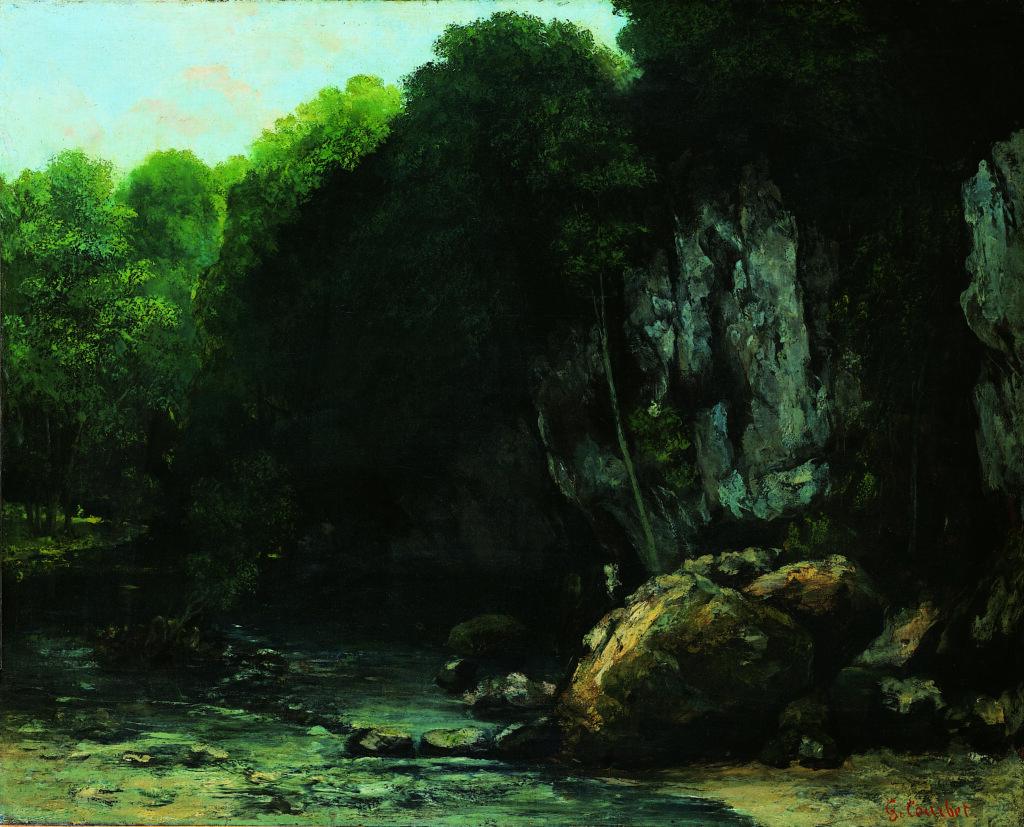 Exposition Soleils Noirs - Le ruisseau du puits noir - COURBET Gustave - vers 1865