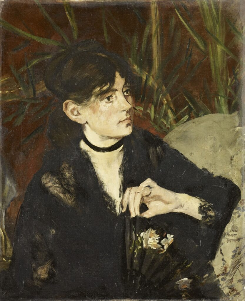 Exposition Soleils Noirs - Portrait de Berthe Morisot à l'éventail - MANET Edouard - 1874