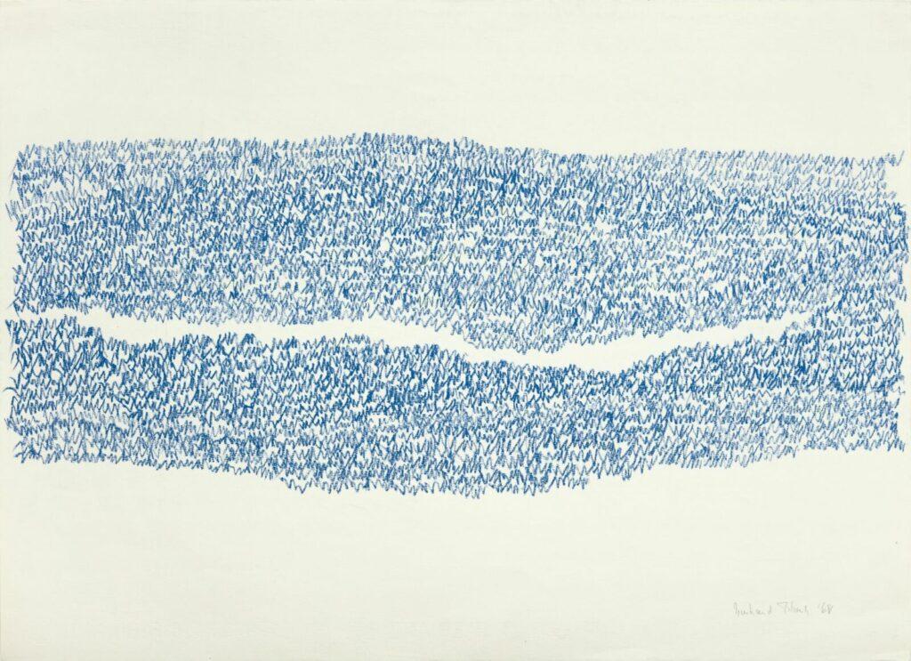 Irma Blank, Eigenschriften, Senza titolo, 1968