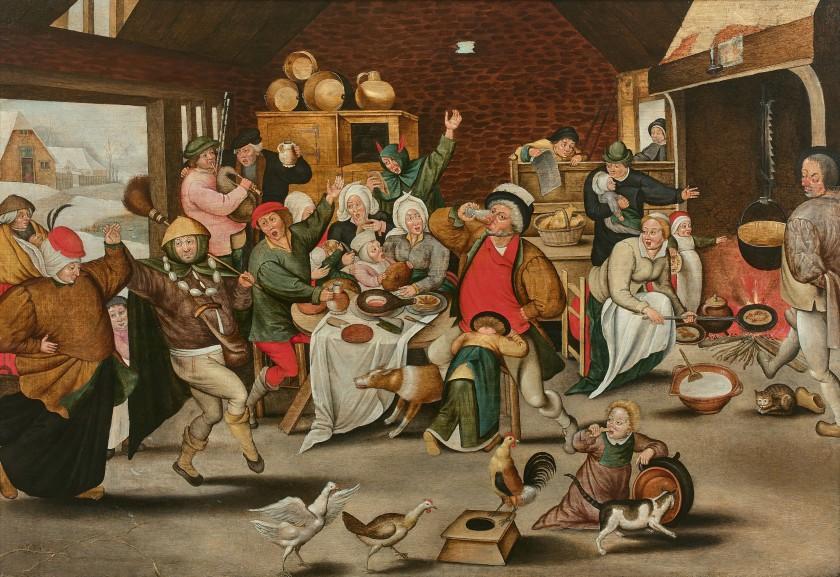 Le roi boit ! de Pieter Brueghel le jeune a été adjugé 629.000 euros chez Artcurial le 16 juin 2020