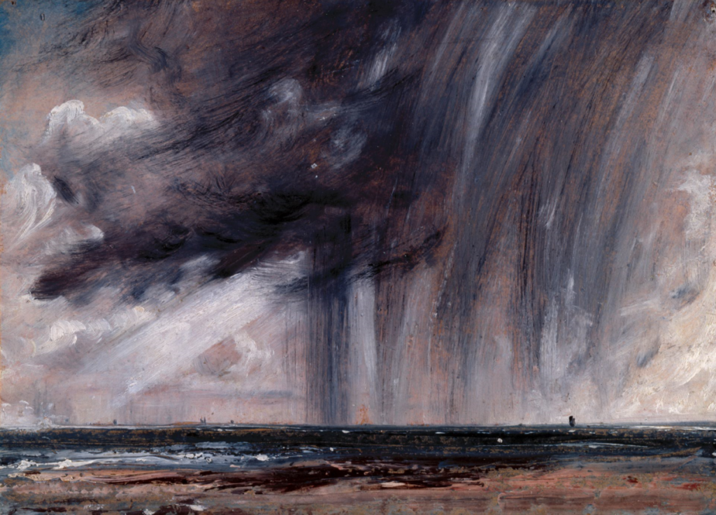 Constable, Rainstorm over the sea