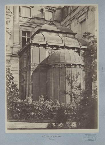 Photographie — «Hôtel Camondo – Serre », vers 1875.