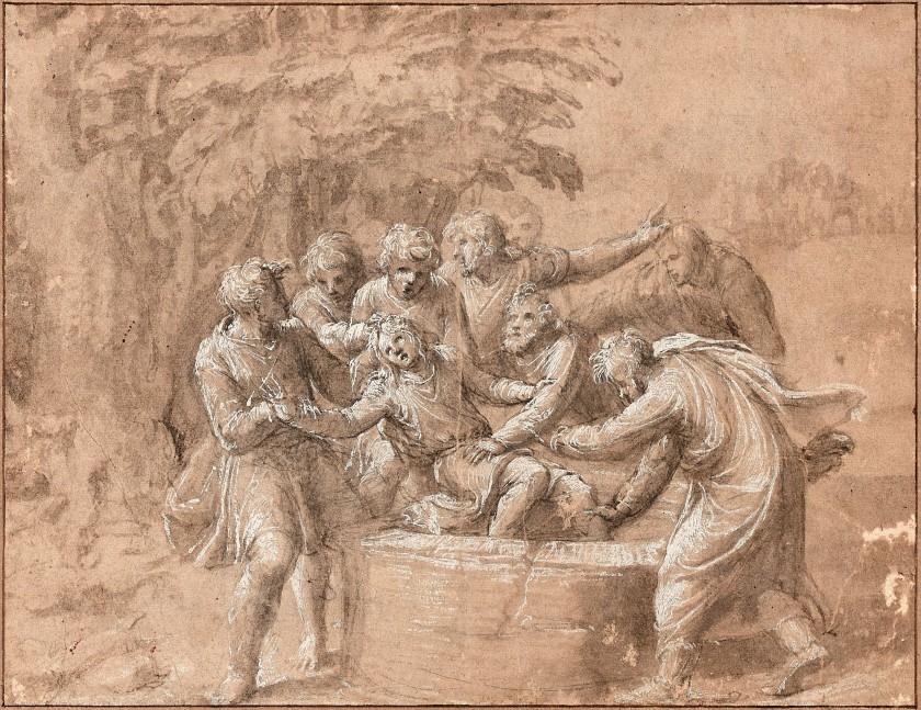 Polidoro CALDARA, dit Polidoro da CARAVAGGIO Caravaggio, 1495 - Messine, 1543 Joseph jeté dans le puits par ses frères Vendu 604 200 €