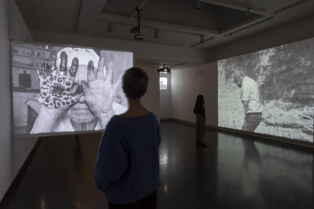 Vue de l'exposition La Bête, un conte moderne de Yasmina Benabderrahmane