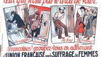 1.Affiche de l'Union française pour le suffrage des femmes. coll. Archives départementales de l'Isère