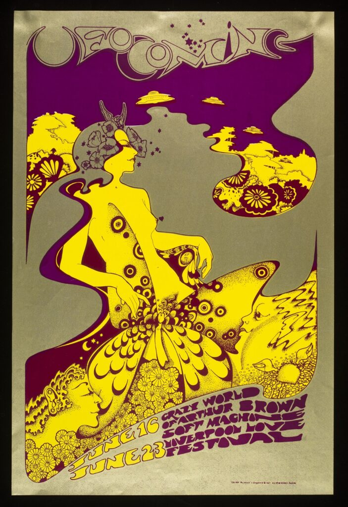 Affiche Crazy World of Arthur Brown at UFO, 16 et 23 juin, 1967