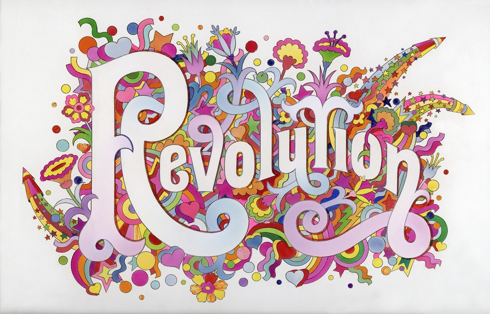 Illustration pour « Revolution » des Beatles, figurant dans The Beatles Illustrated Lyrics, 1969