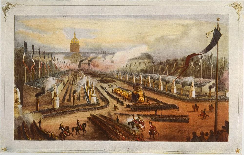Jean Vincent Adam Victor (1801-1866), Arrivée du cortège de Napoélon à Paris