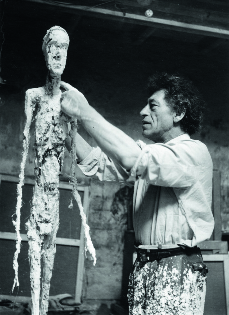 Ernst Scheidegger, Alberto Giacometti travaillant au plâtre de l'Homme qui marche, 1959