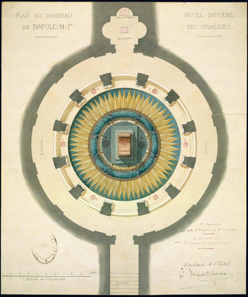 Alfred-Louis Brunet-Debaines (1845-1939), Plan de la «crypte» du tombeau de Napoléon Ier
