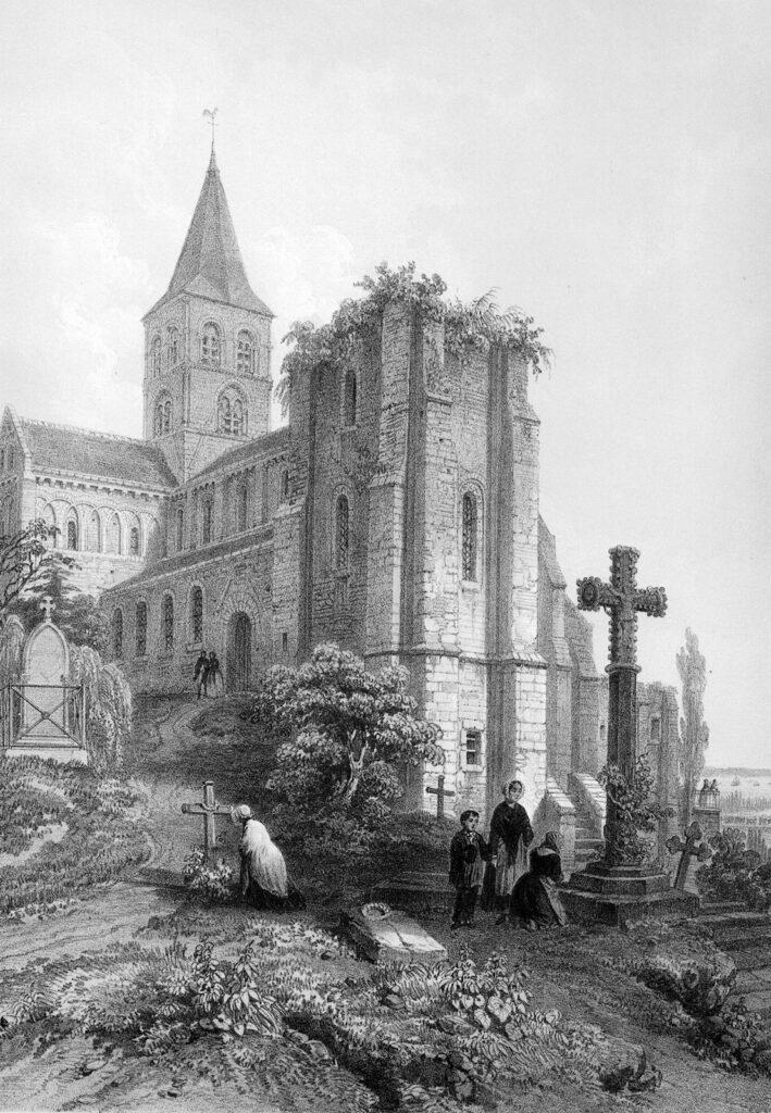 Félix BENOIST, Eglise de l'abbaye de Graville, près du Havre (Seine-Inférieure), 1864