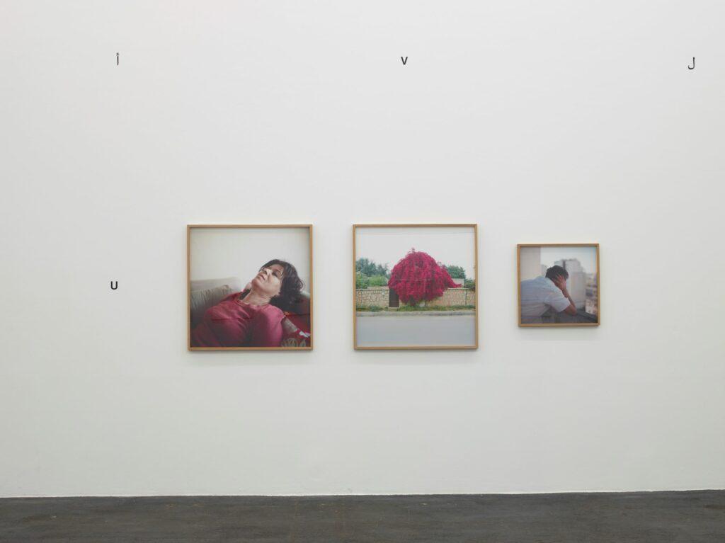 Exposition collective « Qalqalah ةلقلق plus d'une langue» @ CRAC Occitanie - Sète, 2020. Wiame Haddad, « Ceux qui restent », 2013-2015. 3 photographies argentiques
