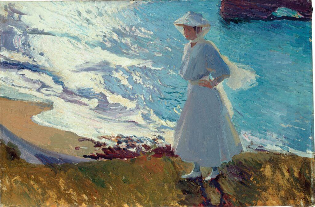 Joaquin Sorolla, Maria sur la plage, 1906