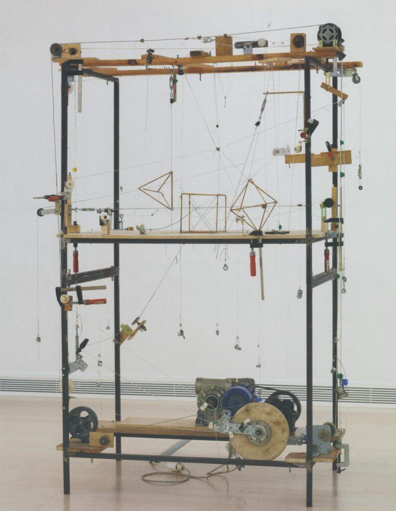 Exposition la mesure du monde au mrac, Attila Csörgö Untitled (1 tetrahedron + 1 cube +1 octahedron = 1 icosahedron), 1999