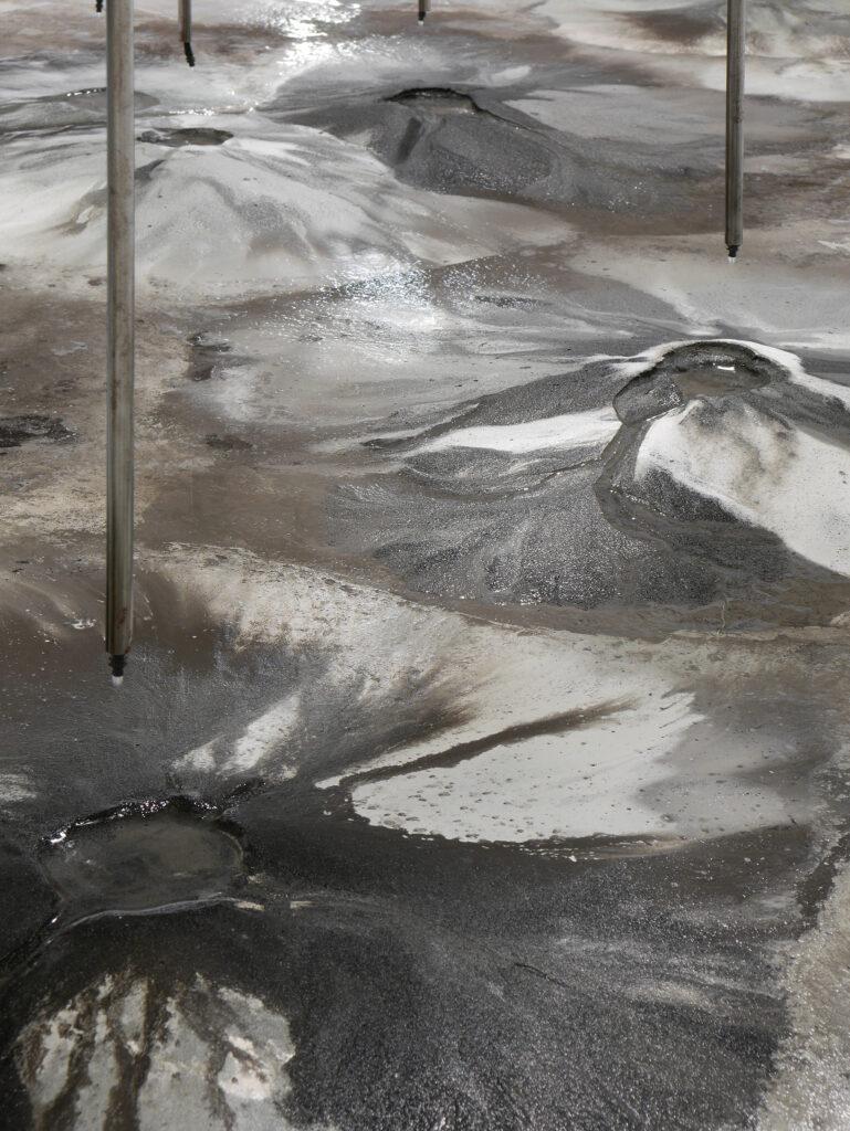 Exposition la mesure du monde au MRAC Sérignan-Pierre Malphettes, Volcans, fleuves et deltas, détails, 2019