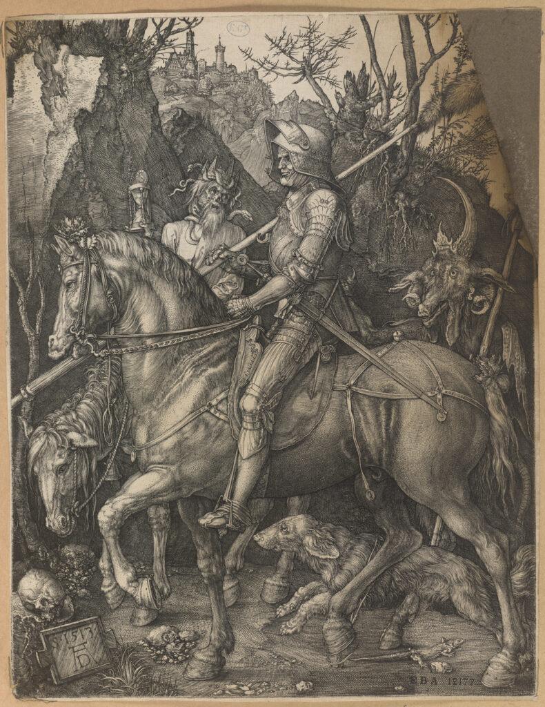 Albrecht Dürer, Le cheval de la mort, 1513 Collection des Beaux-Arts de Paris