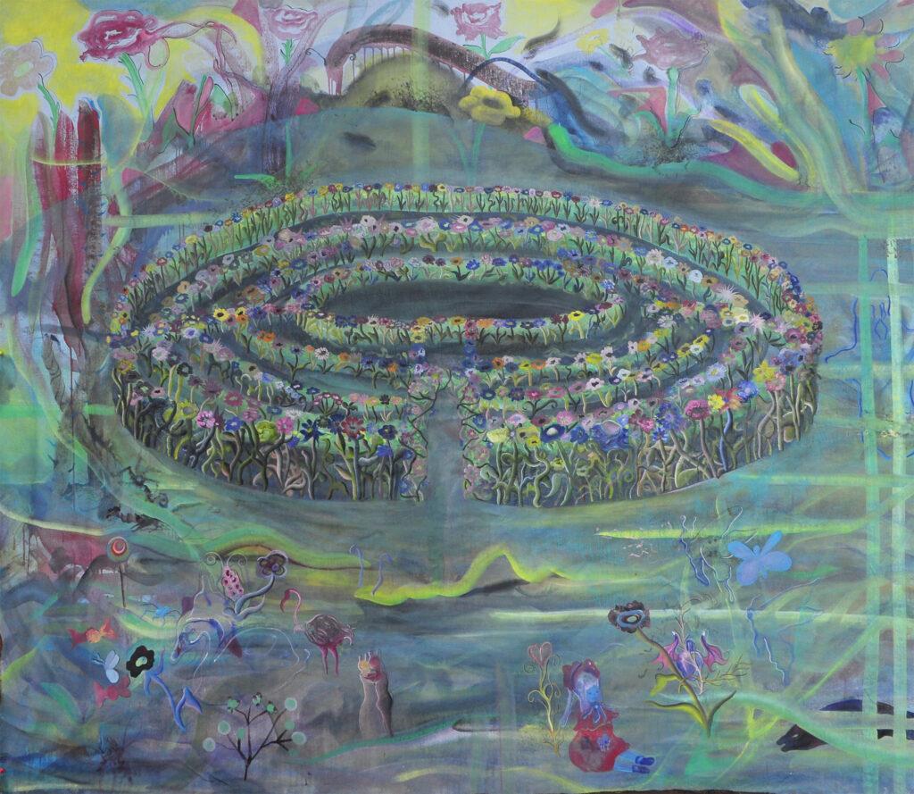 Exposition le cabaret du néant-Matthias Garcia Le labyrinthe (sans mystère) de l'amour, 2018