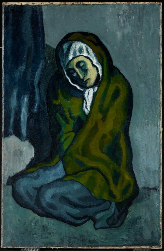 Pablo Picasso, La Misereuse accroupie, 1902, musée des Beaux-Arts d'Ontario