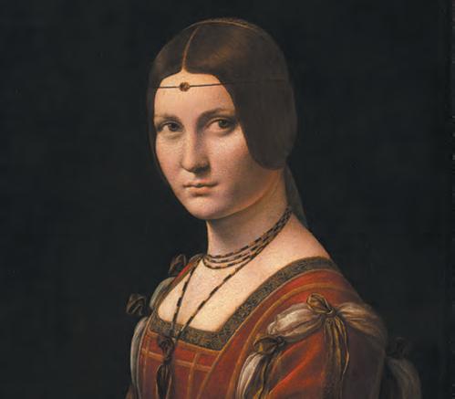 Léonard de Vinci, La Belle Ferronnière (détail)