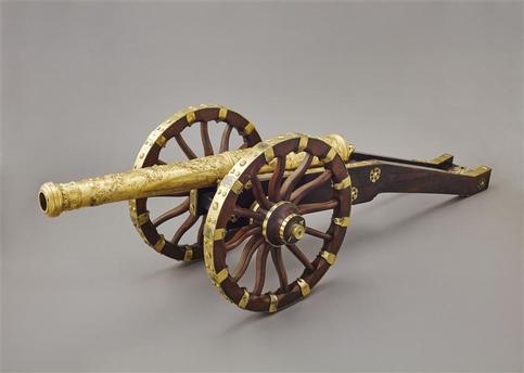 Modèle de canon sur affût offert par le parlement de Franche-Comté à Louis XIV