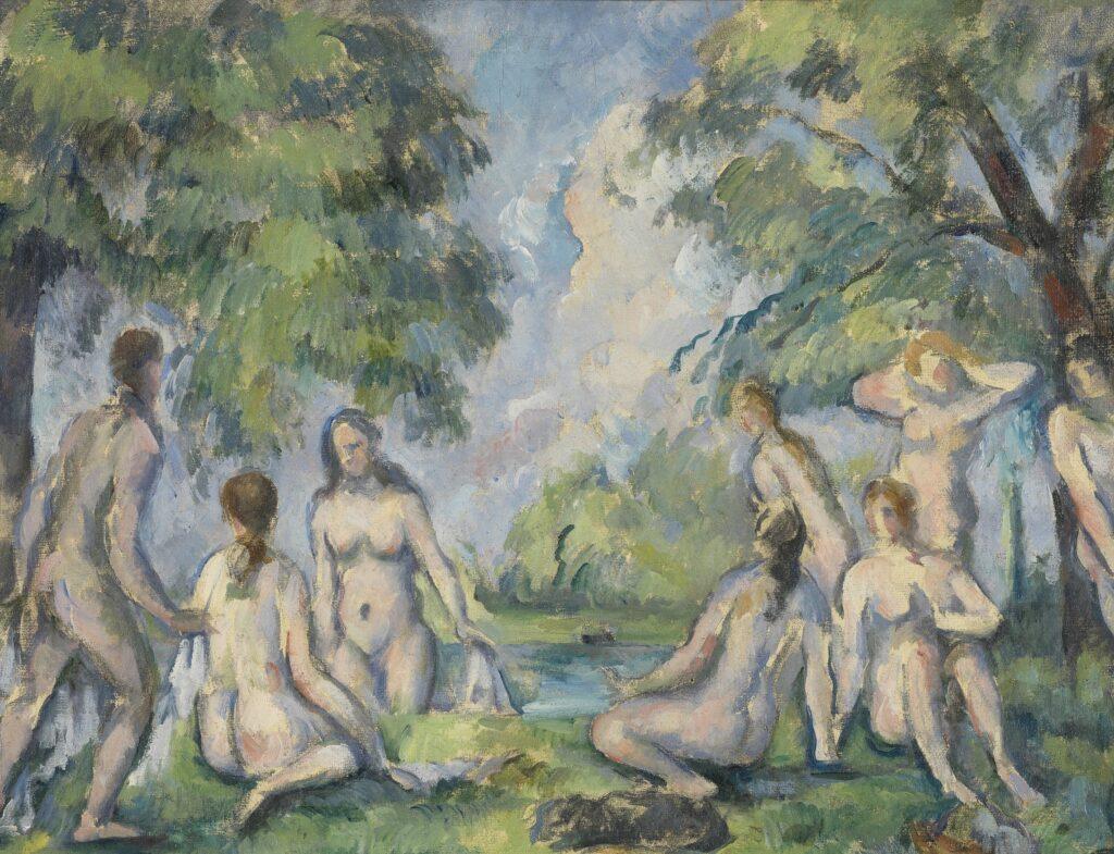 Musée Granet- Paul Cézanne (1839-1906), Les Baigneuses (détail), v. 1890