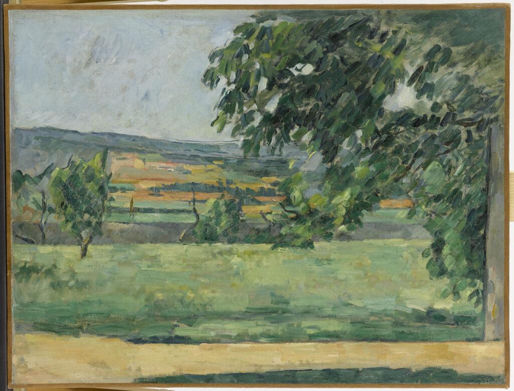 Musée Granet- Paul Cézanne 1839-1906, Vue du Jas de Bouffan, 1875-1876