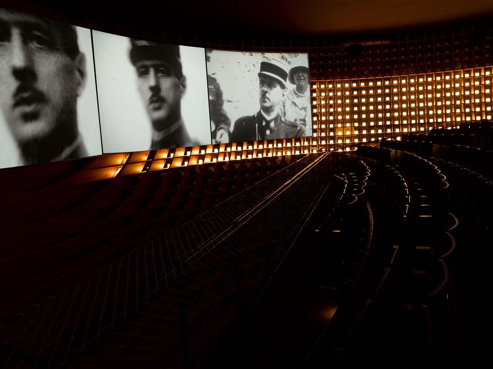 Vue de l'historial Charles de Gaulle