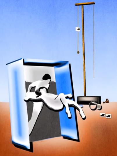 Projet motion design d'Eponine Col, l'objet surréaliste à fonctionnement symbolique