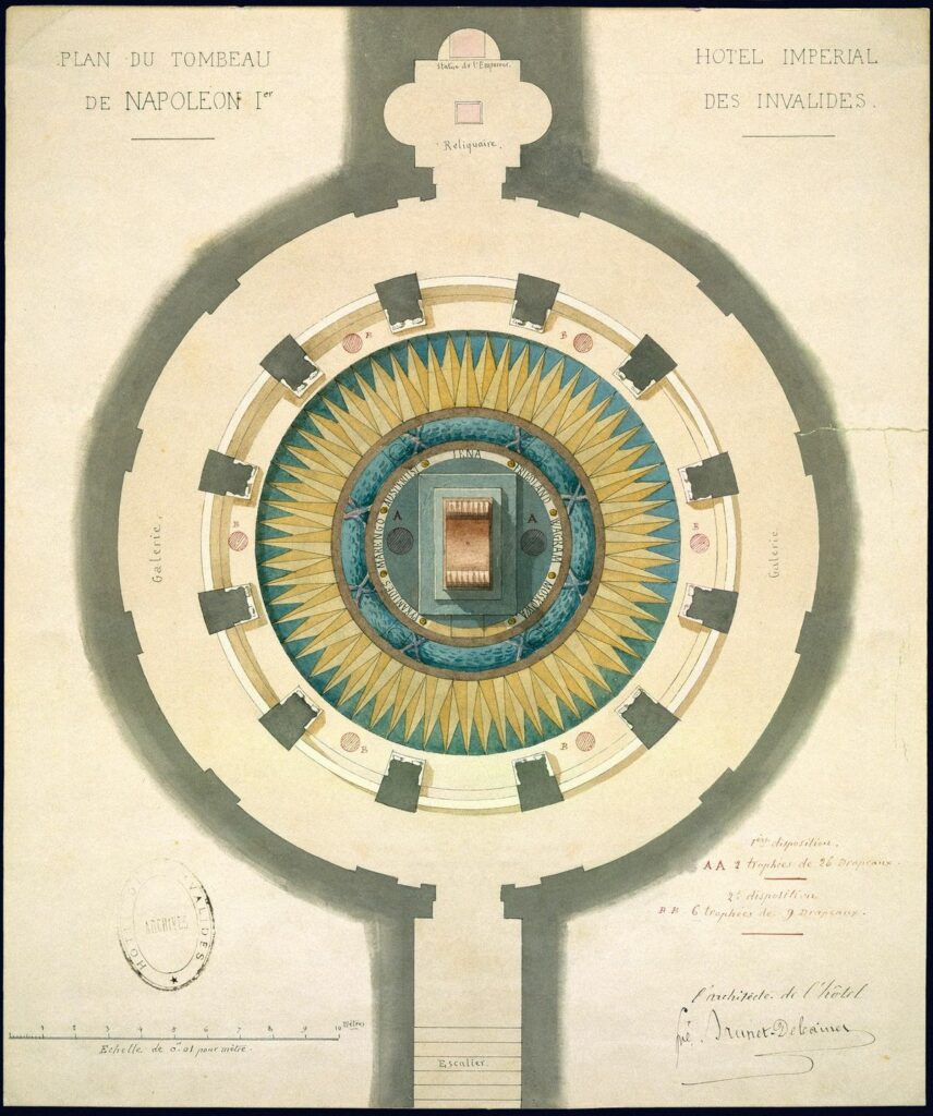 Alfred-Louis Brunet-Debaines (1845-1939), Plan du tombeau de Napoléon Ier
