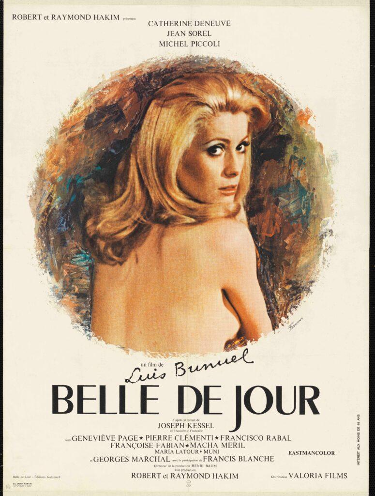 Belle de jour, Luis Buñuel, 1967, affiche de René Ferracci