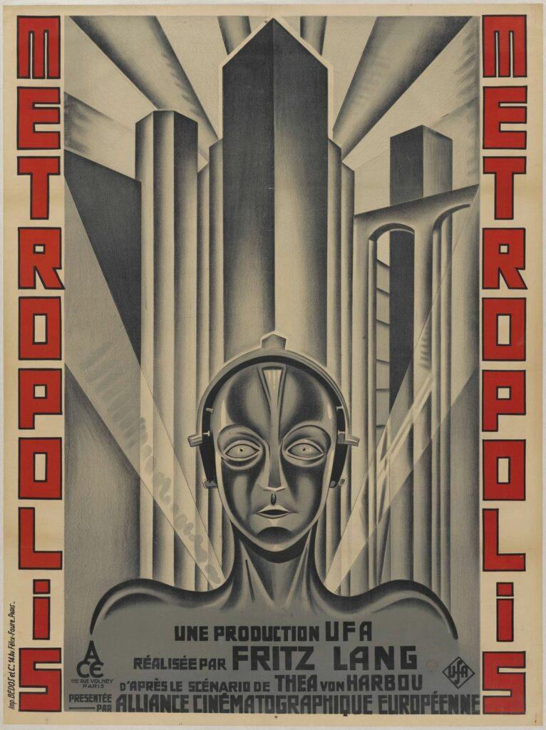 Metropolis, Fritz Lang, Affiche française de Boris Bilintzky d'après H. Schulz-Neudamm, 1927