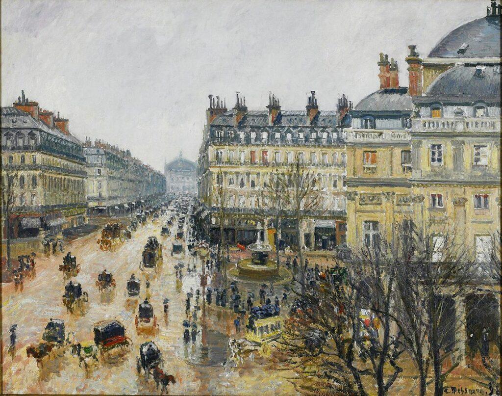 Camille Pissarro, Place du théâtre français, Paris : Pluie, 1898