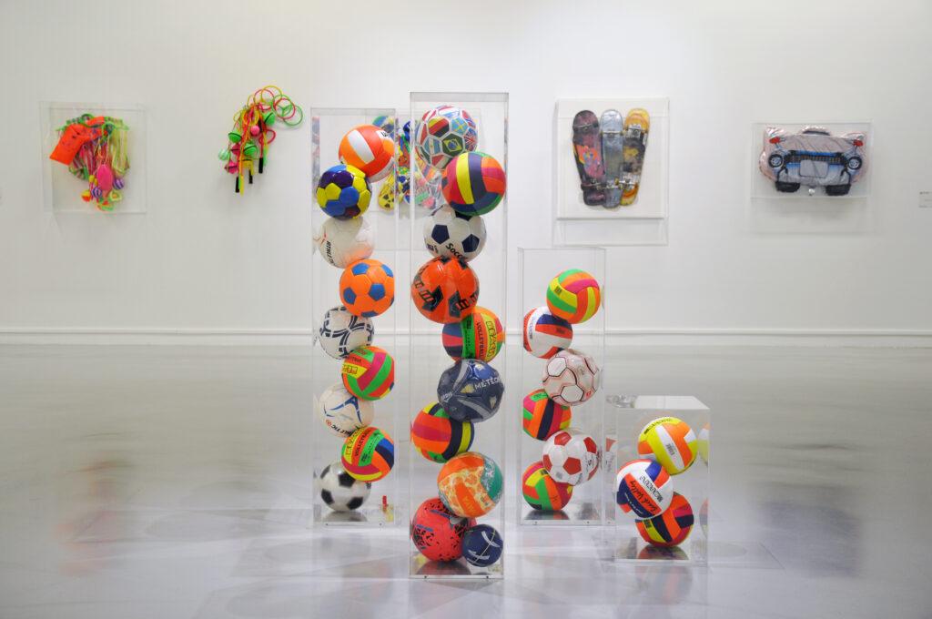 Vue de l'exposition Gérard Deschamps