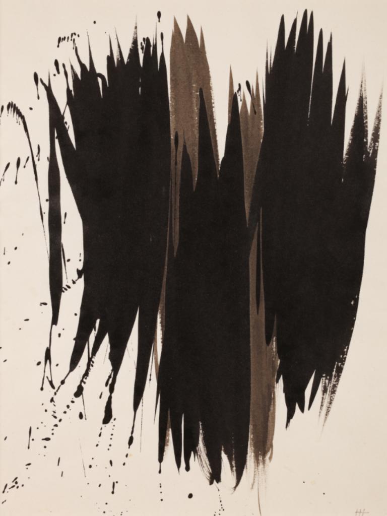 P1952-25, pastel sur papier, 1952