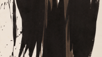 exposition-dans-les-pas-de-hans-hartung-Encre de chine sur papier, 27 x 21 cm , 1956 copyright courtesy Galerie Berthet-Aittouarès, Paris