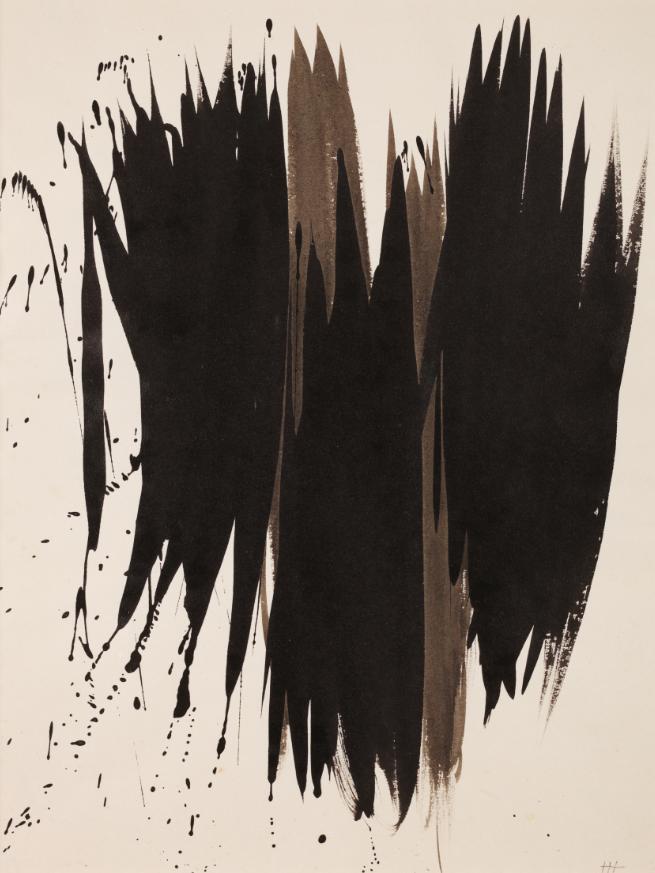 Sans titre, encre de chine sur papier, 1956