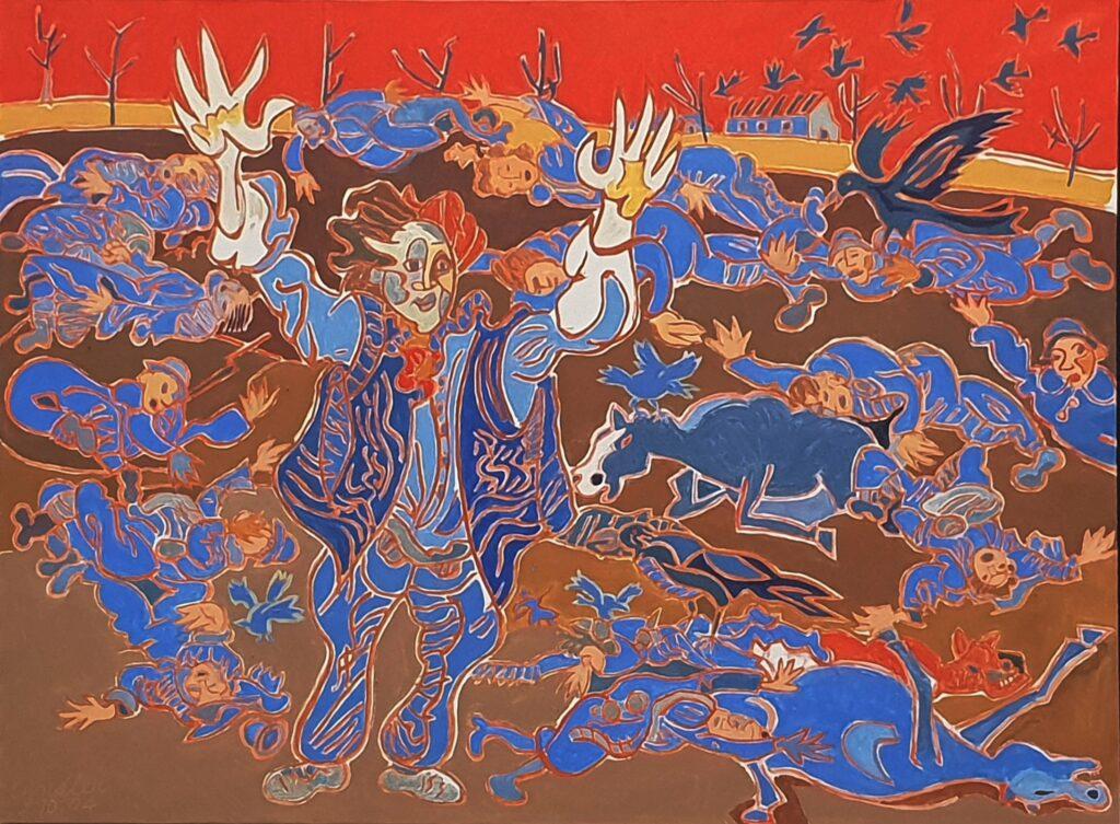 Henri Landier, Face à un mur de mitraille, 2004