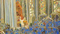 exposition-Henri Landier-musée de la grande guerre de Meaux-La messe du père Breton huile 2014 73x116 cm