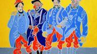 exposition-Henri Landier-musée de la grande guerre de Meaux-le quatuor de la Marne, huile 2017 130x195 cm