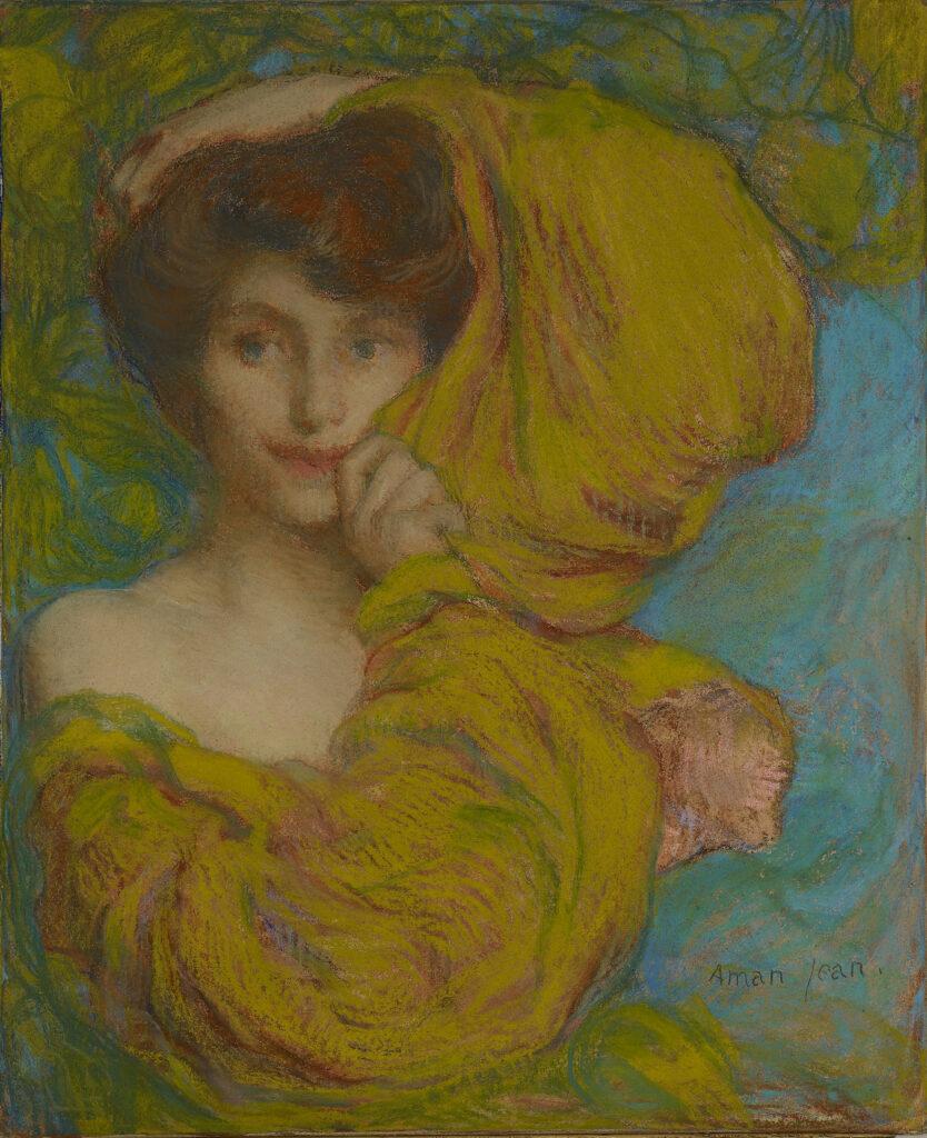 Edmond Aman-Jean, Jeune femme à l'écharpe jaune