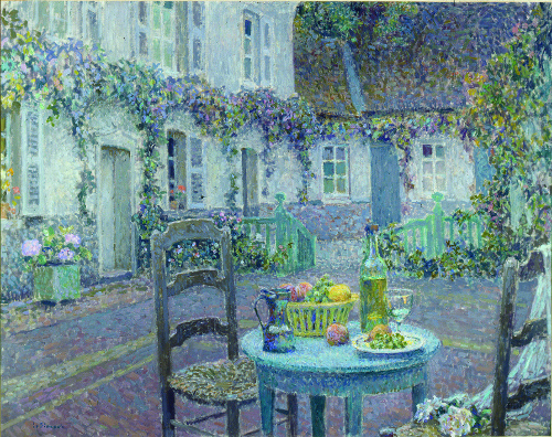 Henri Le Sidaner, La Table bleue, 1923