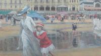 exposition-les-derniers-impressionnistes-musée-de-lodève-René-Xavier Prinet La plage de Cabourg, vers 1910
