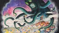 exposition-Winshluss-Poulpe 2017 Gouache sur papier 59 x 74 cm-galerie vallois
