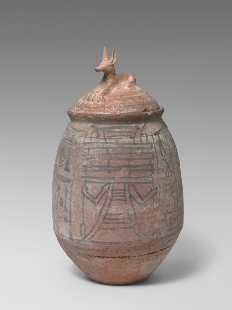 Vase à statuettes de serviteurs funéraires, XIXe‐XXe dynastie, XIIIe‐XIIe s. av. J.‐C. Egypte