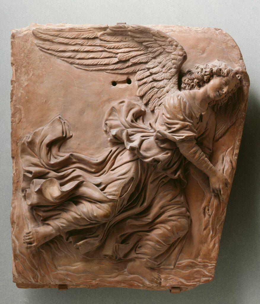 Andrea del Verrocchio, Un ange volant, vers 1480