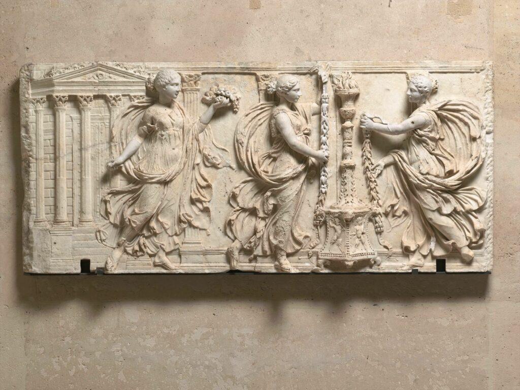 Relief des Sacrifiantes Borghèse, vers 130